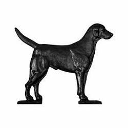 "Black ""Black Lab"" Mailbox Ornament"