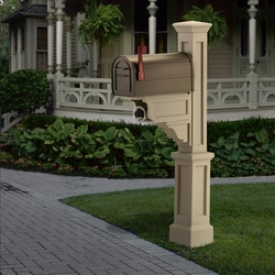 Dover Mailbox Post in Clay