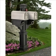 Black Rockport Double Arm Mailbox Package