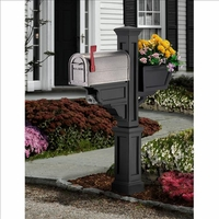 Signature Plus Mailbox Post Black