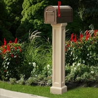 Bradford Mailbox Post in Clay