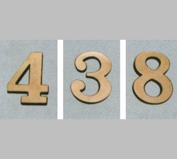 Brass Numbers for Curbside Mailbox
