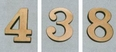 3 inch Polished Brass Curbside Mailbox Numbers