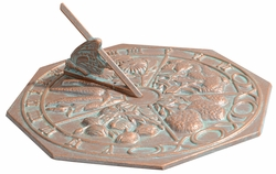 Butterfly Sundial - Copper Verdi