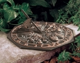 Butterfly Sundial - Oil Rub Bronze