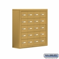 Cell Phone Storage Locker - 20 A Doors - Gold - Master Keyed Locks