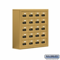 Cell Phone Storage Locker - 20 A Doors - Gold - Resettable Combination Locks