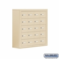 Cell Phone Storage Locker - 20 A Doors - Sandstone - Master Keyed Locks