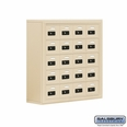 Cell Phone Storage Locker - 20 A Doors - Sandstone - Resettable Combination Locks