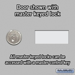 Cell Phone Storage Locker - 25 A Doors - Aluminum - Master Keyed Locks