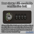 Cell Phone Storage Locker - 25 A Doors - Aluminum - Resettable Combination Locks