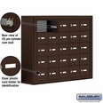 Cell Phone Storage Locker - 25 A Doors - Bronze - Master Keyed Locks