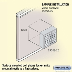 Cell Phone Storage Locker - 25 A Doors - Bronze - Resettable Combination Locks
