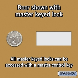 Cell Phone Storage Locker - 25 A Doors - Gold - Master Keyed Locks