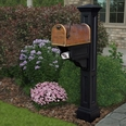 Charleston Plus Mailbox Post Black