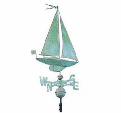 Clasic Directions Copper SAILBOAT Weathervane