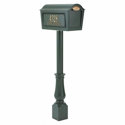 Classic Chalet Mailbox Package  - Green