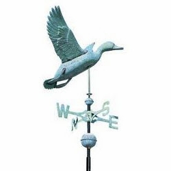 Classic Directions Polished Copper Duck Weathervane