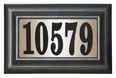STANDARD Lighted Address Plaque with Black Vinyl Numbers (Choose Frame)