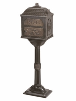 Classic Pedestal Mailbox Package Bronze with Antique Bronze