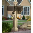 Clay Rockport Double Arm Mailbox Package