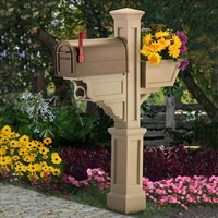 Signature Plus Mailbox Post Clay