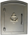 Column Mailbox with Anchor in Bronze