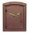 Column Mailbox with Eagle in Antique Copper