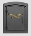 Column Mailbox with Eagle in Black