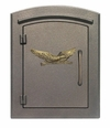 Column Mailbox with Eagle in Bronze