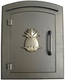 Column Mailbox with Pineapple in Bronze