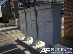 Sandstone Cluster Box Unit with Crown Cap and Pillar Pedestal accessories - 13 compartment