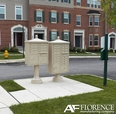 Sandstone Cluster Box Unit with Finial Cap and Traditional Pedestal accessories - 16 compartment