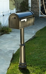 Single Post Mount System Basic Post WITH Cover  (Mailboxes purchased separately)