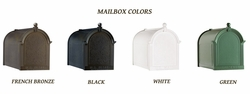 Whitehall Mailboxes: Side Mount Quadruple Cluster Mailbox Package