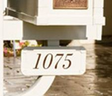 Deluxe Post Address Plaque