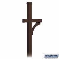 Deluxe Post 1 Sided In Ground Mounted For Designer Roadside Mailbox Bronze Finish