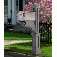 Dover Mailbox Post in Granite
