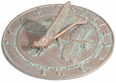 Dragonfly Sundial - Copper Verdi