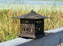 Dragonfly Tea Lantern - Copper Verdi