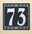 Dresden Two Number Wall Plaque - (1 Line)