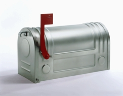 E3S Galvanized Post Mount Style Modern Stainless Steel Mailbox