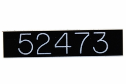 Engraved Id Tag - Black Tag w/ White Engraved Numbers Or Letters
