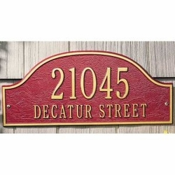 Estate Size Admiral Wall or Lawn Plaque  - (1 or 2 Lines)