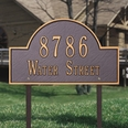 Estate Size Arch Marker Wall or Lawn Plaque  - (1 or 2 lines)