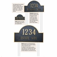 Standard Size Golf Ball Arch Wall or Lawn Plaque - (2 Line + Monogram)