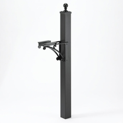 Deluxe Post, Ball Finial & Brackets (Choose Color)