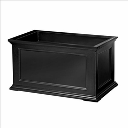 Fairfield Patio Planter 20in x 36in - Black