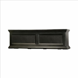 Fairfield Window Flower Box 3ft in Black (includes wall mount brackets)