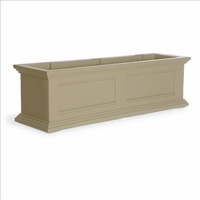 Fairfield Window Flower Box 3ft in Clay (includes wall mount brackets)